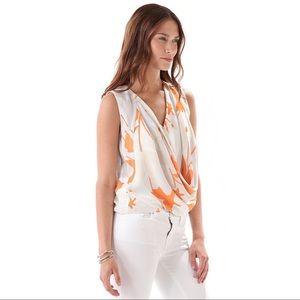 Diane Von Furstenberg Rina Faux Wrap Silk Top